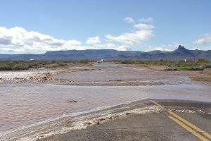 Oatman Highway Flooded