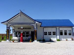 This 1932 Standard Oil Station now serves as a Route 66 Visitor's Center in Odell, Illinois, by Kathy Weiser-Alexander.