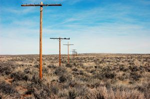 Telephone poles along old Route 66