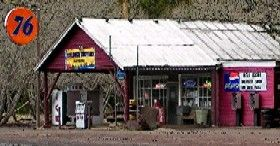 The Pines General Store and gas station in Parks, Arizona. Photo courtesy Kick's on Arizona's Route 66.