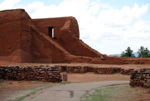 Ruins of the old mission at Pecos Pueblo, New Mexico