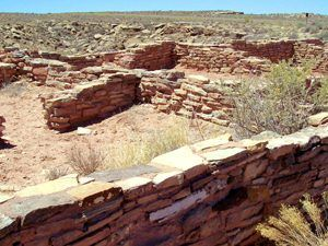 The Puerco Pueblo was inhabited by the Ancestral Pueblo People in about 1200-1300 A.D.