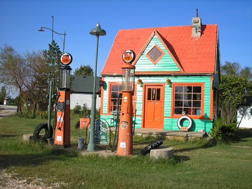 1920's Phillips 66 Station was originally located on Route 66 in Avilla, Missouri,