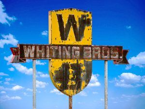 Old Whiting Brothers Sign in San Fidel, New Mexico