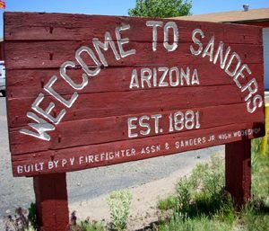 Welcome to Sanders, Arizona