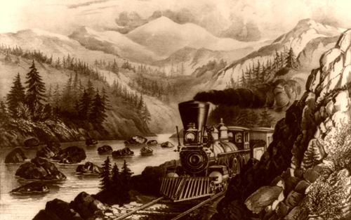Sierra-Nevada Railroad Route, Courier and Ives, 1871