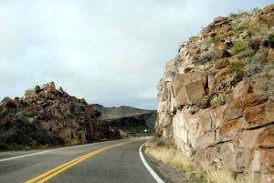 When Traveling Route 66, visitors make a choice whether to go through Yucca or Oatman.