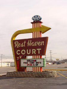 Rest Haven Court Sign, Springfield, Missouri