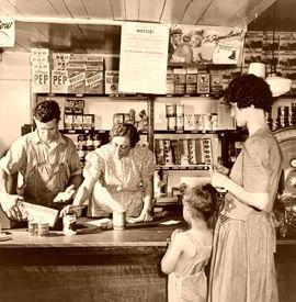 Store West Danville, Vermont by Fritz Henle,1942.