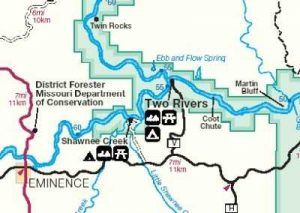 Where the Current and Jacks Fork Rivers meet