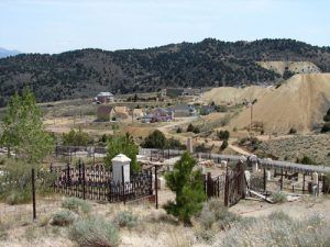 Virginia City Mining Remains and cemetery-