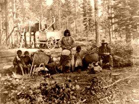 Washoe Indians at Lake Tahoe, 1866, Lawrence & Houseworth.