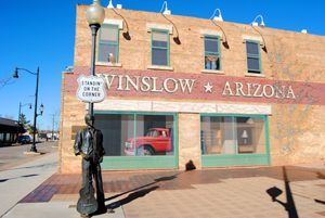 Standin' on the Corner in Winslow, Arizona