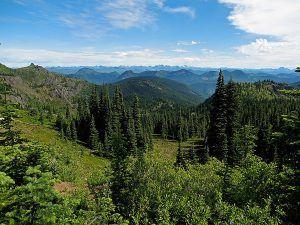 Cascade Range in Central Washington