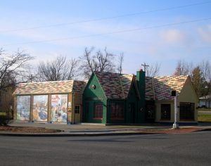 Restored Carr Phillips 66 Station, Cuba, Missouri