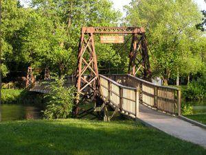 pontiac swinging bridge