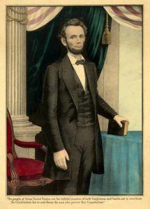Abraham Lincoln Constitution Quote, E.B. and E.C. Kellogg, 1864