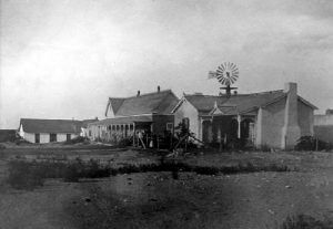 The Koehler Hotel in 1900. Annie Riggs later bought the property and changed the name to the Riggs Hotel. Today, it is the Annie Riggs Memorial Museum.