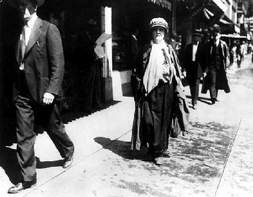 Baby Doe visiting Denver in 1930, courtesy Denver Public Library.