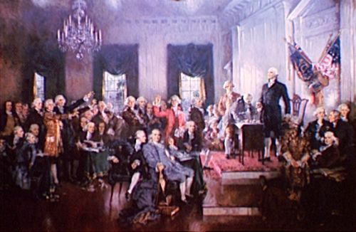 Constitution signing, Howard C. Christy