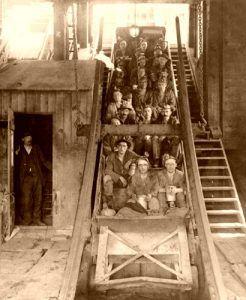 Copper miners in Michigan, Keystone View Co, 1916.