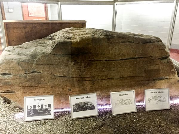 Dighton Rock in Museum today, courtesy Wikipedia