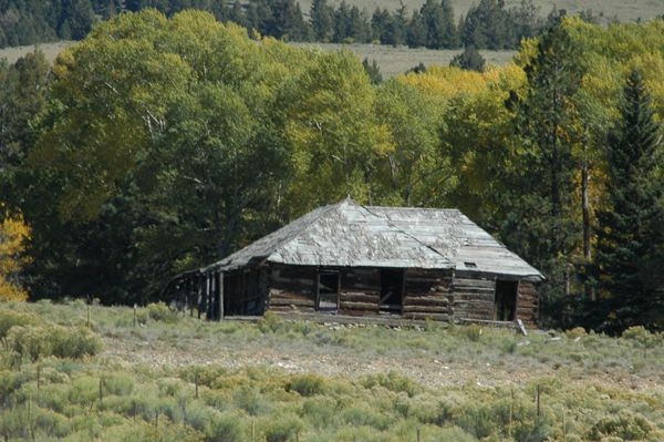 Elizabeth Moore Lowrey's last home still stands across the valley from Elizabethtown, New Mexico