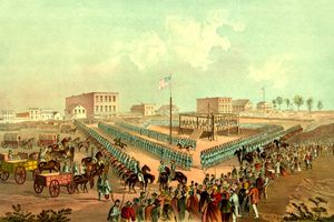 Execution of 38 Sioux, Mankato Minnesota, December 26, 1862