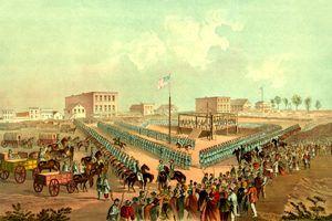 Execution of 38 Sioux, Mankato Minnesota, December 26, 1862
