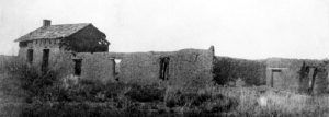 What was left of Fort Bascom in 1907. Over the next century, the old post continued to deteriorate and  there is nothing left today.