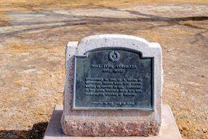 Fort Pena Colorada Marker