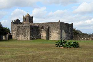 Presidio La Bahia Loreto Chapel in Goliad, Texas by by Kathy Weiser-Alexander.