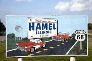 Hamel Illinois Sign