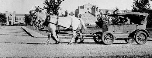 Horse drawn automobile