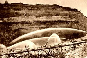 Hydraulic Mining, Twin Springs ID, Horace C. Myers, 1901