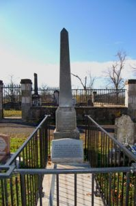 John Ross Grave at Park Hill, Oklahoma, near Tahlequah.