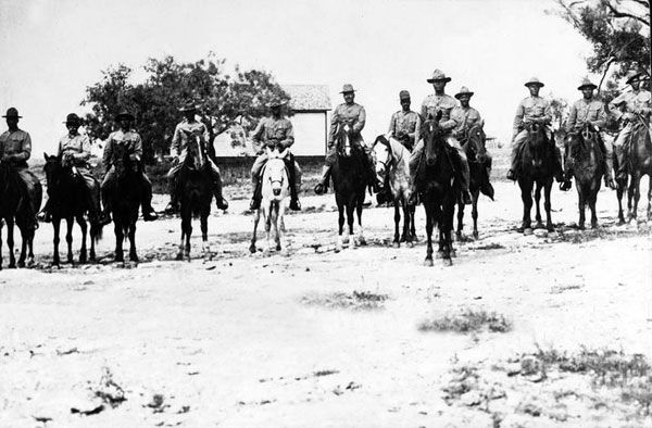 Black Seminole Scouts, about 1913