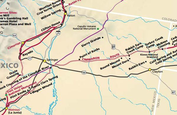 Santa Fe Trail Routes in New Mexico