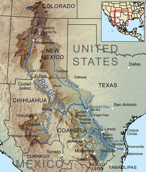 Pecos River Map