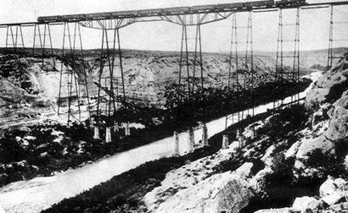 Original Pecos River Railroad Bridge.