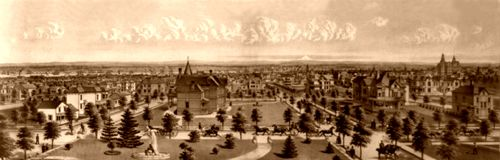 Portland, Oregon, 1888 lithograph