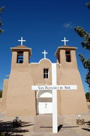 San Francisco de Assisi Mission Church in Ranchos de Taos, New Mexico still serves a congregation today.