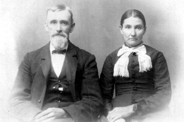 Samuel Watrous and third wife, Josephine Chapin Watrous