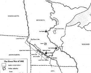 Sioux War of 1862 Map