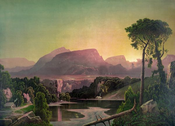 Sunrise in the Alleghenies, Gibson and Co, 1880