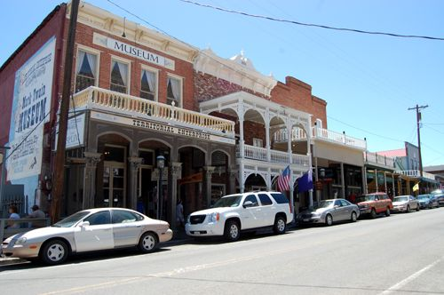 Virginia City's Main Street today is lined with historic buildings, Kathy Weiser-Alexander.