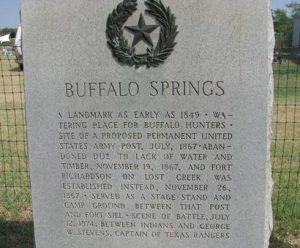 Buffalo Springs Marker