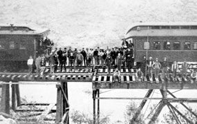 Southern Pacific silver-spike-ceremony