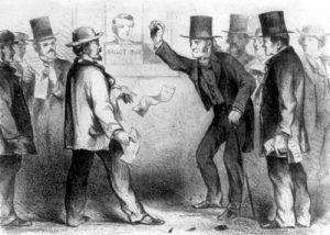 Voting, Joseph S. Harley, 1864
