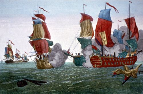 Battle between the Bonhomme Richard and the Serapis